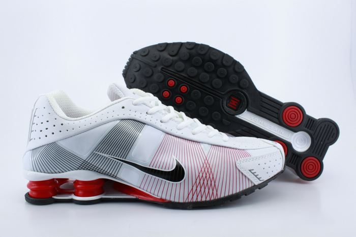 Nike Shox R4H White Red Grey Shoes