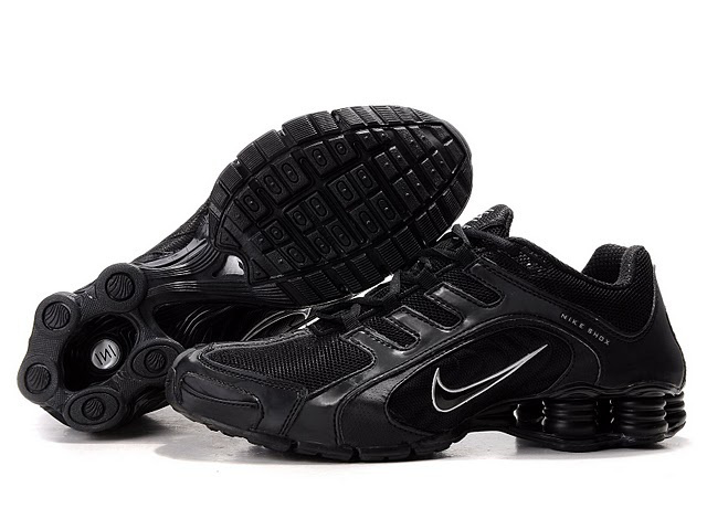 Nike Shox R5 All Black Sport Shoes