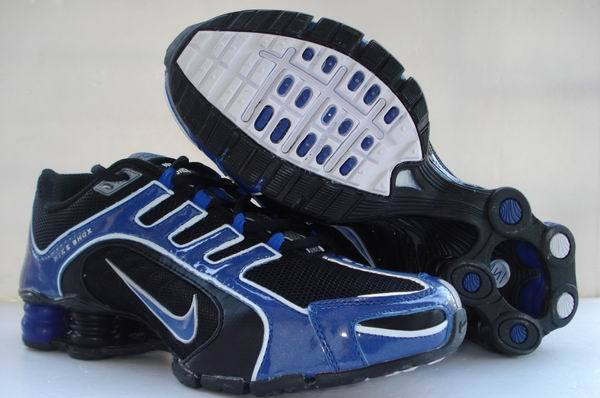 Nike Shox R5 Black Blue Sport Shoes