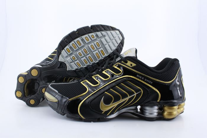 Nike Shox R5 Black Gold Sport Shoes