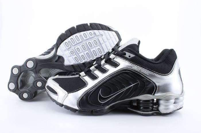 Nike Shox R5 Black Silver Sport Shoes