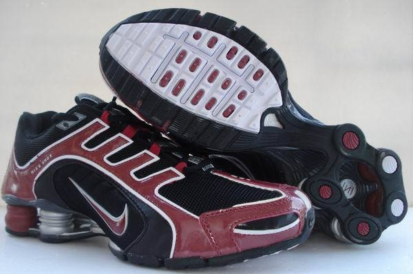 Nike Shox R5 Black Wine Red Sport Shoes