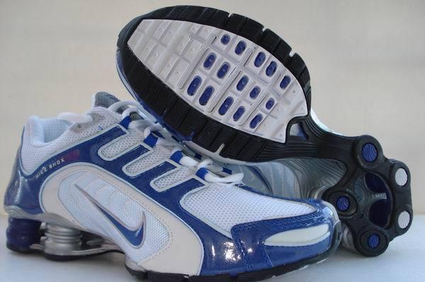 Nike Shox R5 White Blue Sport Shoes