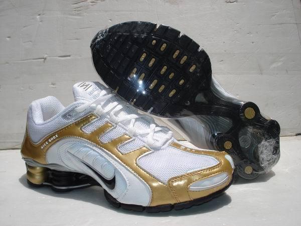 Nike Shox R5 White Gold Sport Shoes