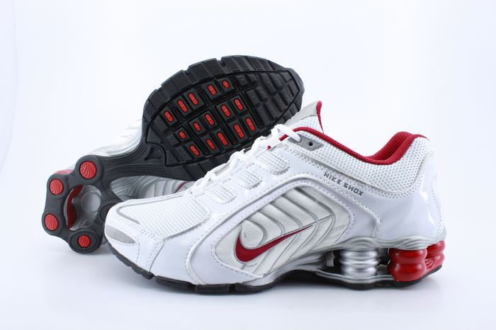Nike Shox R5 White Red Running Shoes
