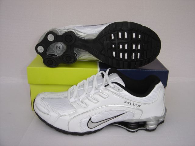 Nike Shox R5 White Silver Running Shoes