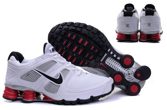 Nike Shox R6 White Black Red Running Shoes