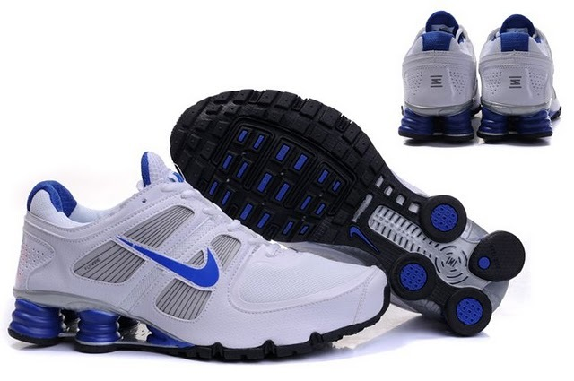 Nike Shox R6 White Blue Black Running Shoes