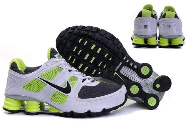 Nike Shox R6 White Green Black Running Shoes