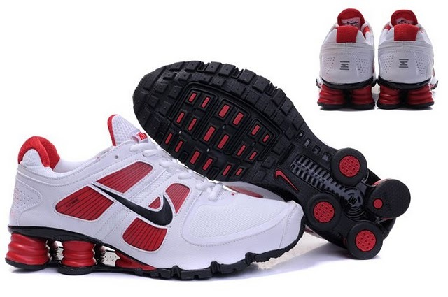 Nike Shox R6 White Red Black Running Shoes