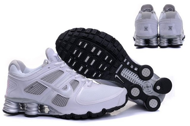 Nike Shox R6 White Silver Running Shoes