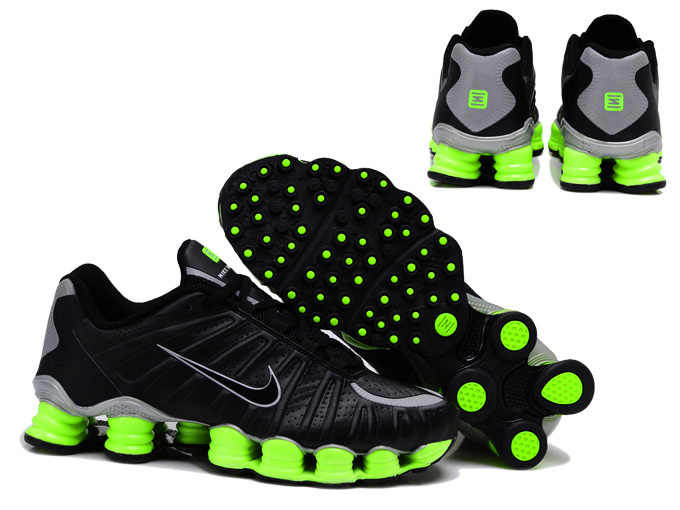 Nike Shox TL3 Shoes Black Green