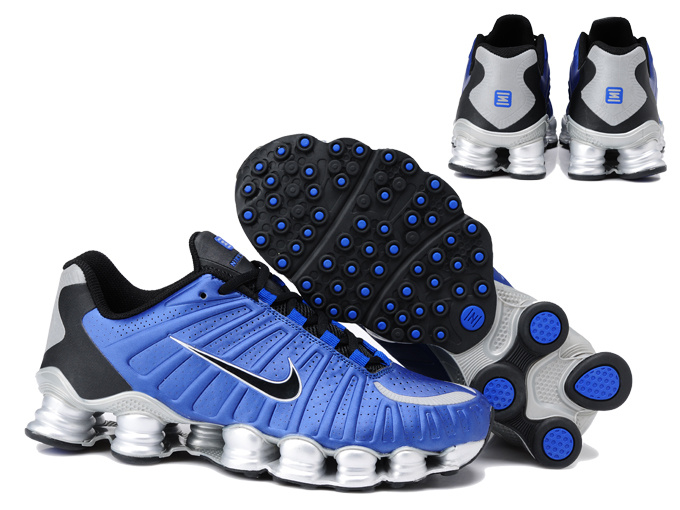 Nike Shox TL3 Shoes Blue Black Silver