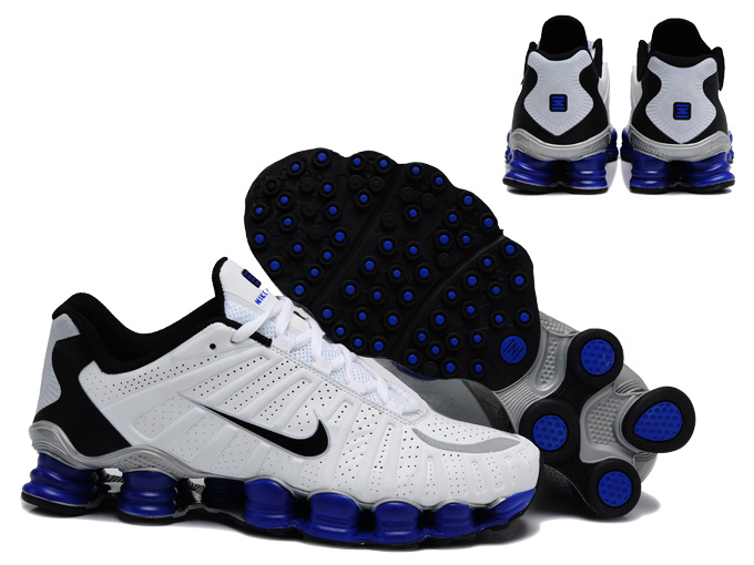 Nike Shox TL3 Shoes White Black Blue