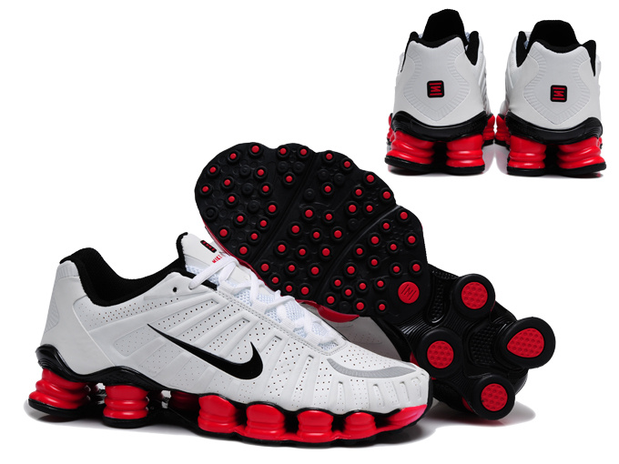 Nike Shox TL3 Shoes White Black Red