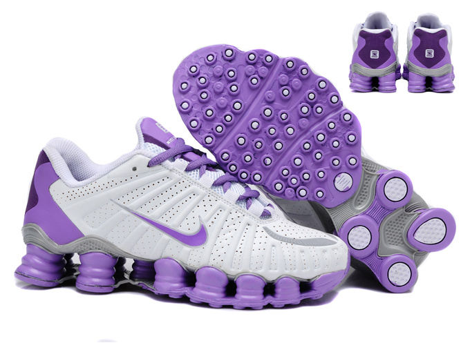 Women Shox TL3 White Purple Shoes