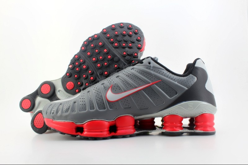 Nike Shox TLX Shoes Grey Red