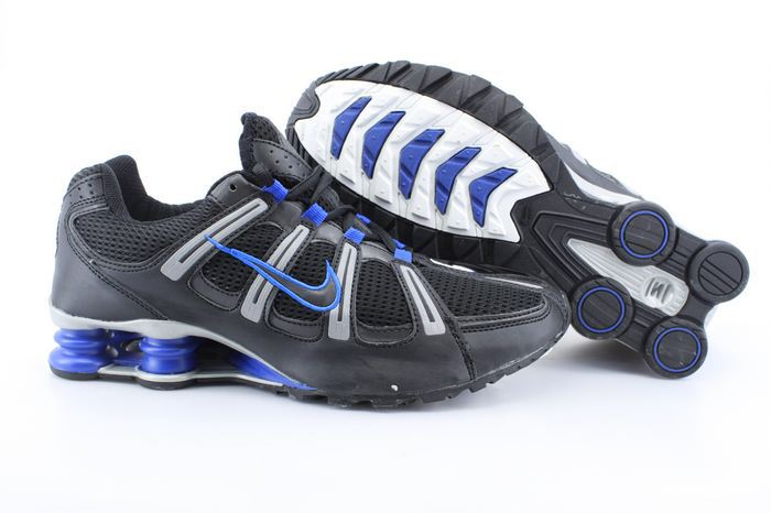 Nike Shox Turbo Shoes Black Grey Blue