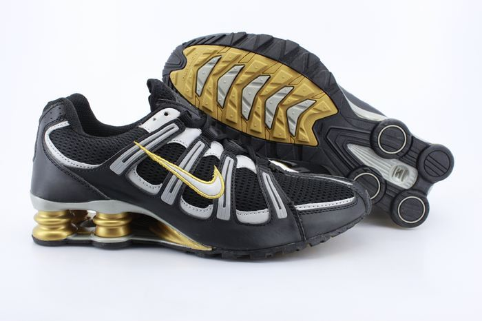 Nike Shox Turbo Shoes Black Grey Gold