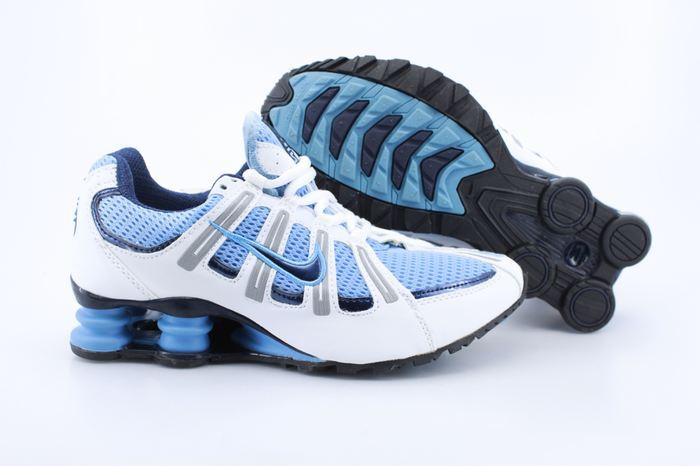 Nike Shox Turbo Shoes Blue White Grey Blue