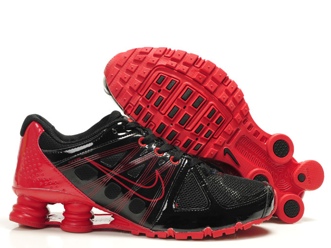 Nike Shox Turbo 2 Shoes Black Dark Red