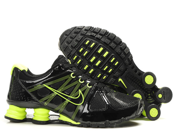 Nike Shox Turbo 2 Shoes Black Green Swoosh