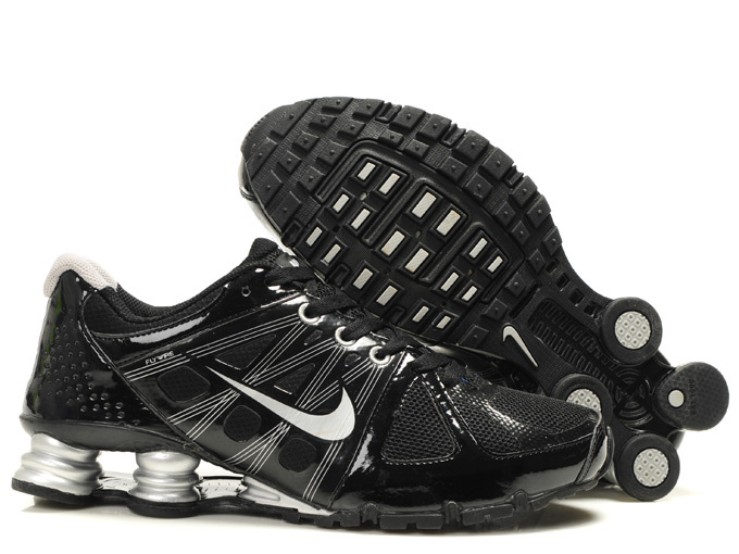 Nike Shox Turbo 2 Shoes Black White Swoosh