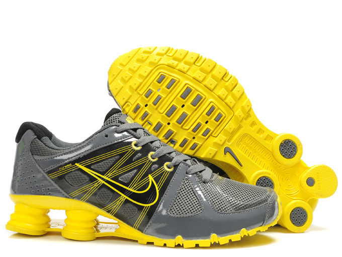Nike Shox Turbo 2 Shoes Grey Black Yellow