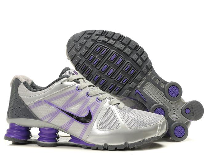 Nike Shox Turbo 2 Shoes Silver Grey Purple Black Swoosh