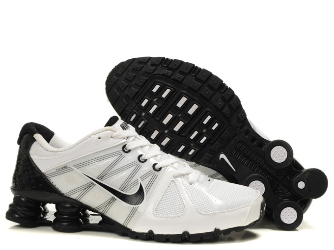 Nike Shox Turbo 2 Shoes White Black Grey