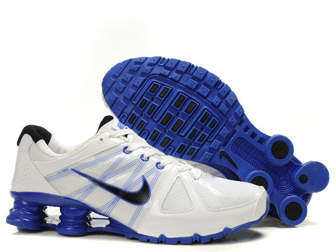 Nike Shox Turbo 2 Shoes White Blue Black Swoosh