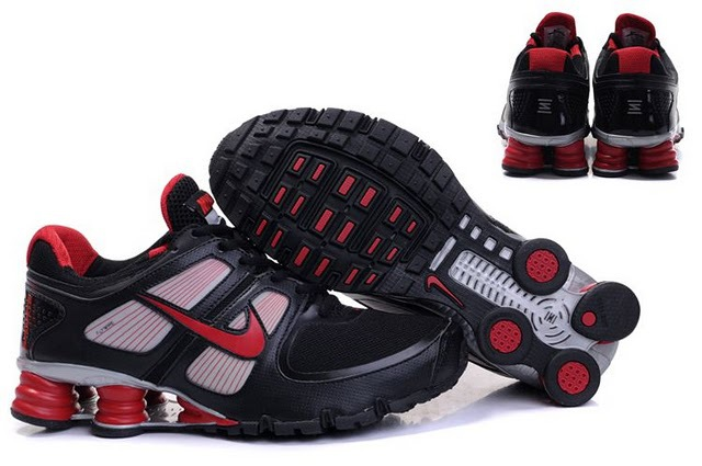 Nike Shox Turbo Shoes Black Grey Red