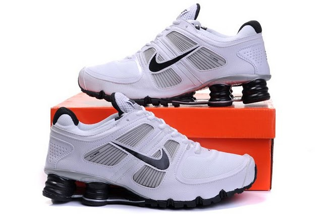 Nike Shox Turbo Shoes White Grey Black
