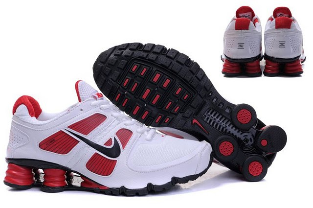 Nike Shox Turbo Shoes White Red Black