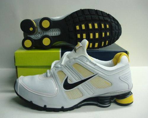 Nike Shox Turbo Shoes White Yellow Black