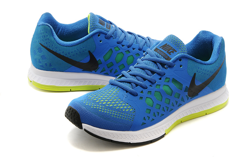 Nike Zoom Pegasus 31 Blue Black White Running Shoes