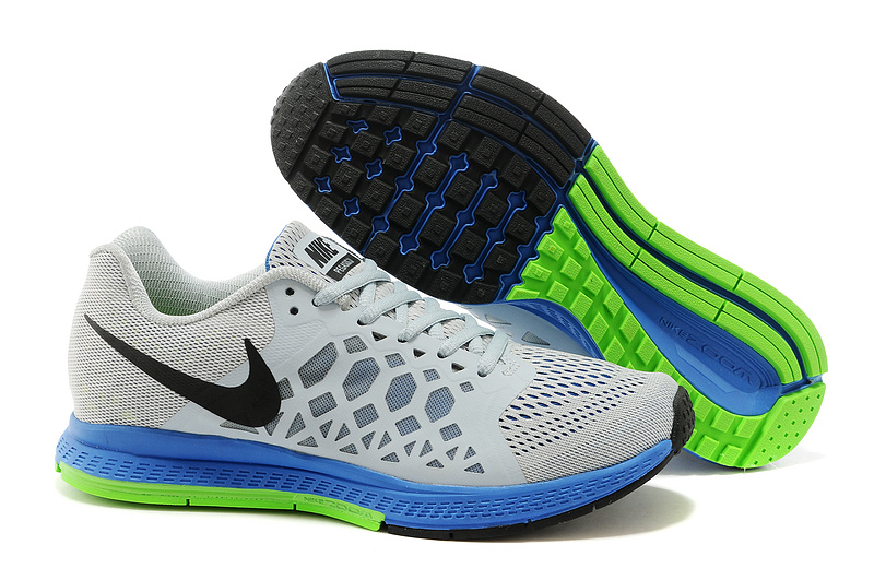 Nike Zoom Pegasus 31 Grey Blue Black Running Shoes