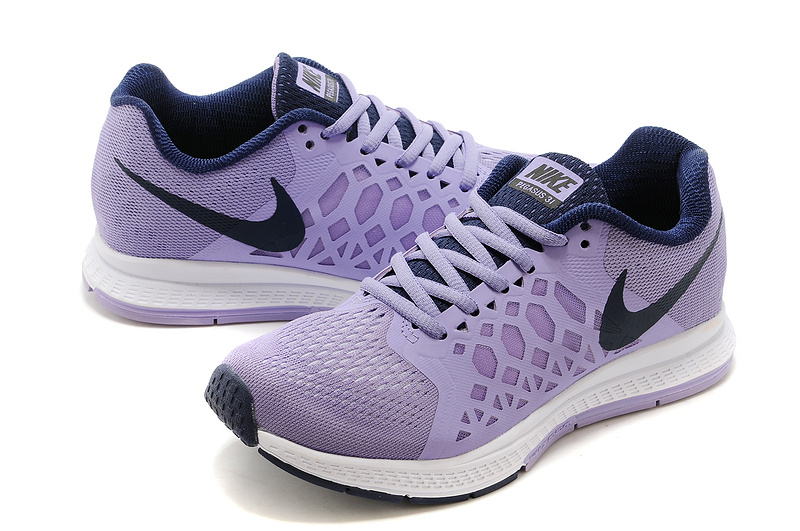Nike Zoom Pegasus 31 Light Purple Black Running Shoes For Women