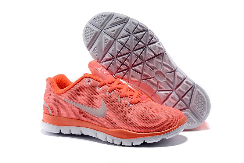 Child Nike Free Run 5.0 Orange Grey Shoes