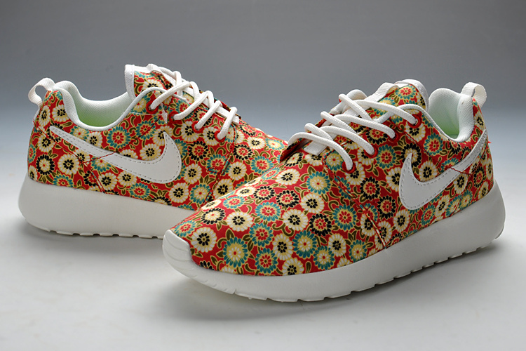 Summer Nike Roshe Run Red Print Running Shoes For Women