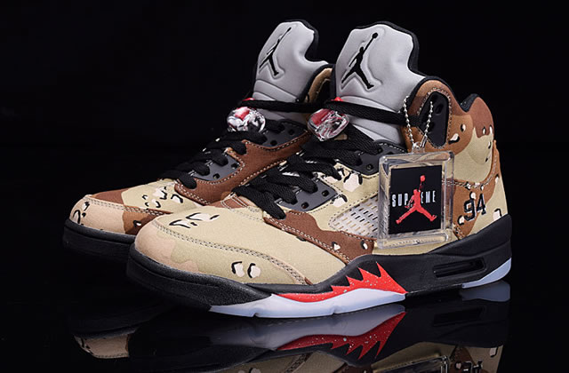 Supreme x Air Jordan 5 Sup Camo