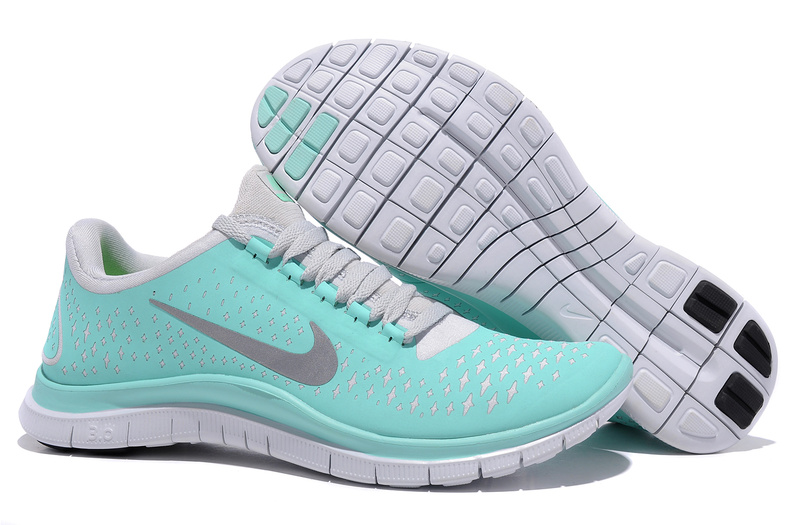 Baby Blue Nikes Free 3.0 V4 Running Shoes