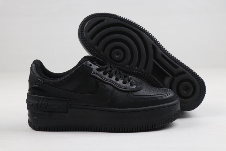 2020 Women Nike Air Force 1 Low Shadow All Black