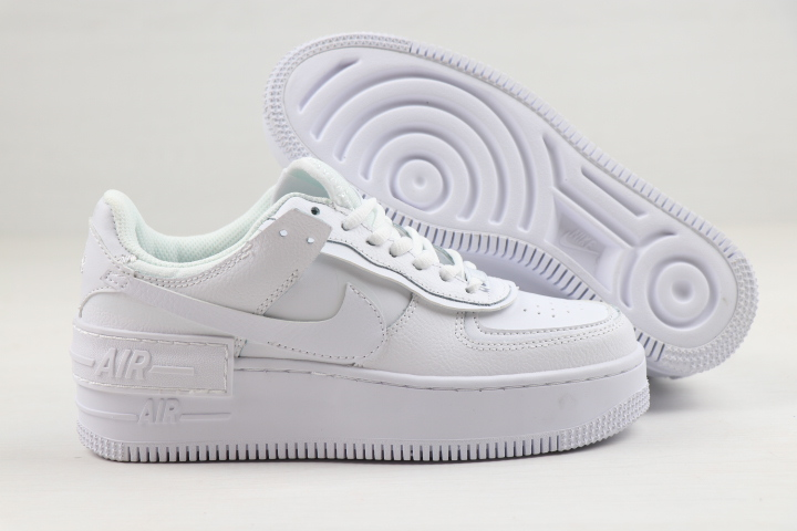2020 Women Nike Air Force 1 Low Shadow All White