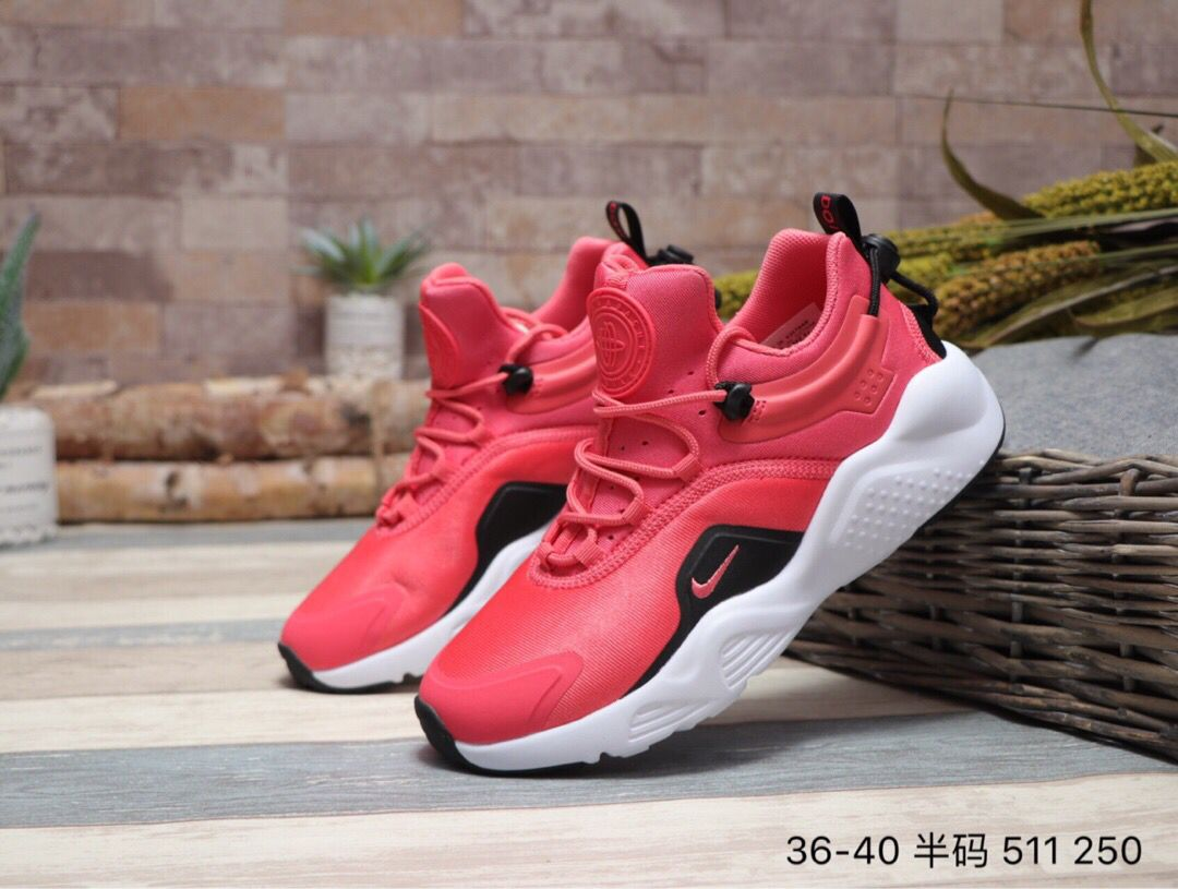 2020 Women Nike Air Huarache VIII Pink Black White