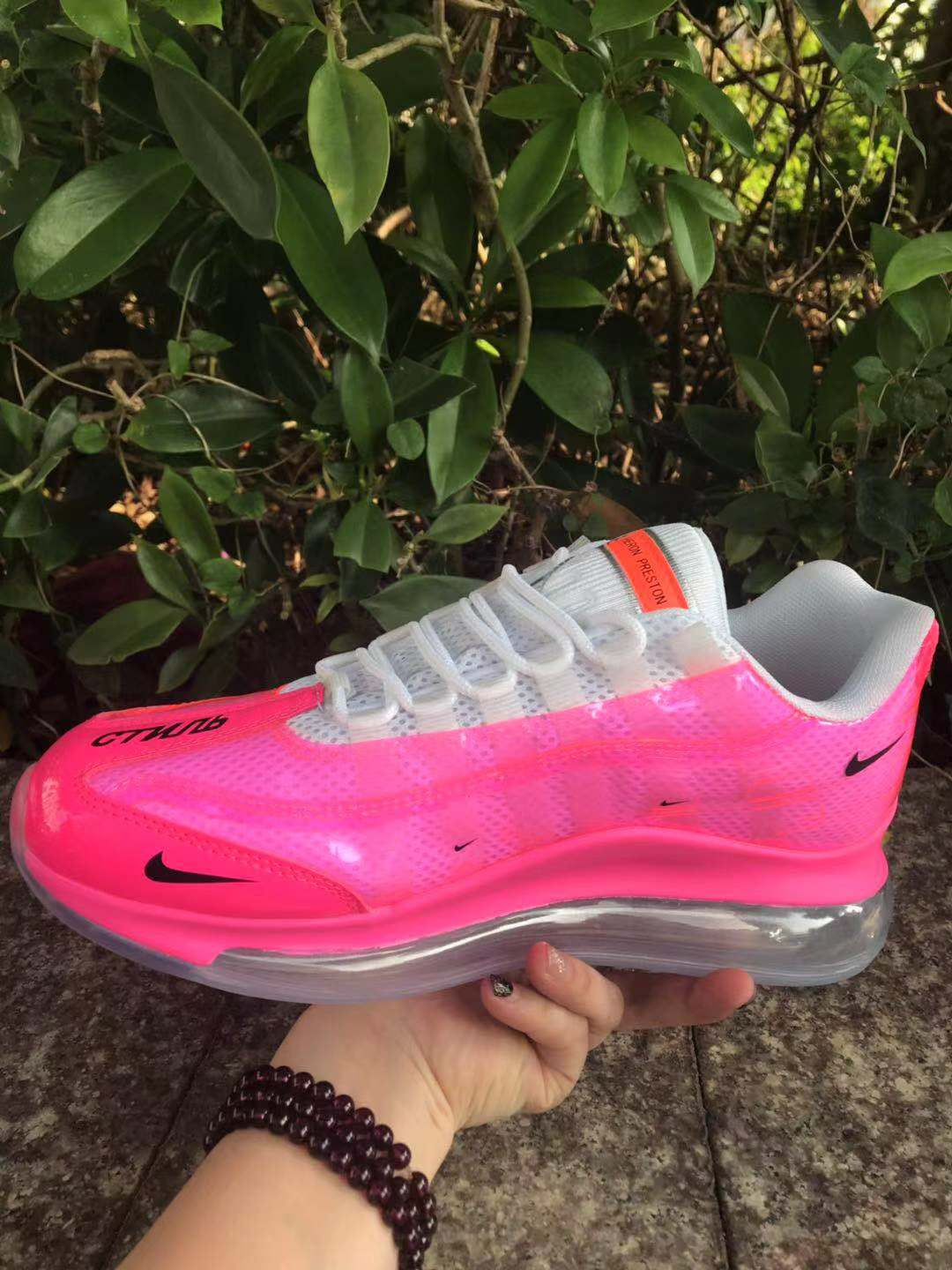 2020 Women Nike Air Max 720 95 Pink White
