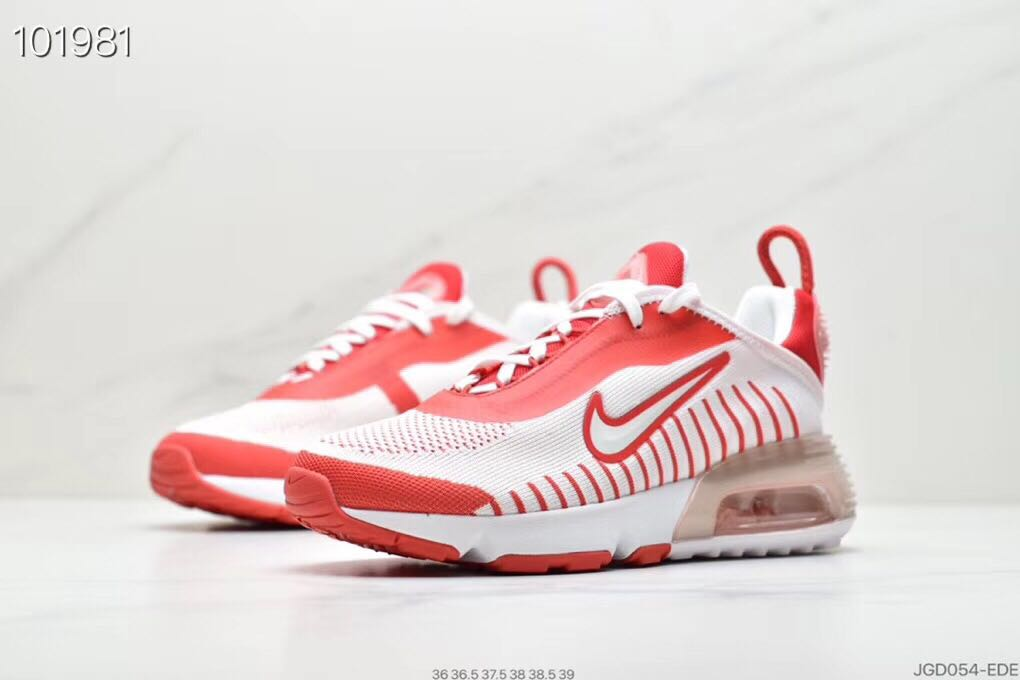 2020 Nike Air Max Vapormax 2090 Flyknit White Red For Women