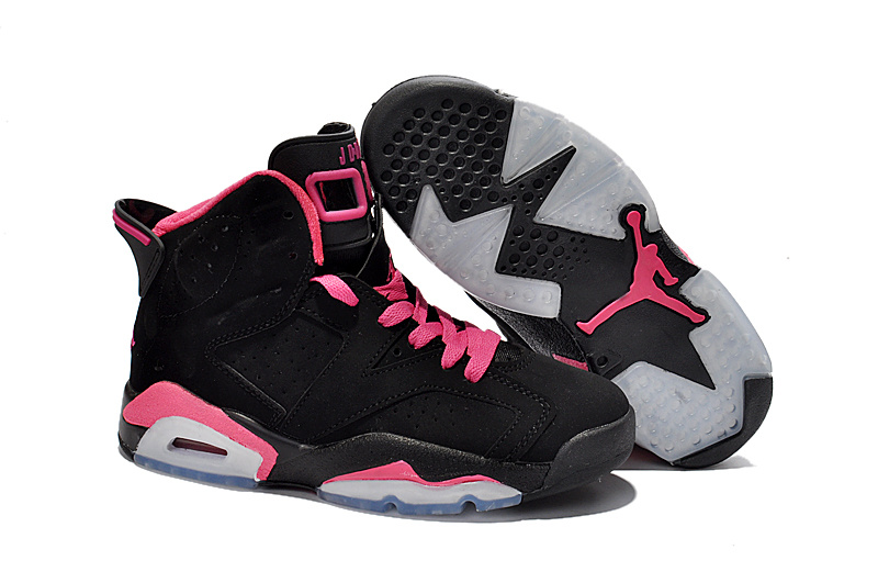 Women Air Jordan 6 Black Pink
