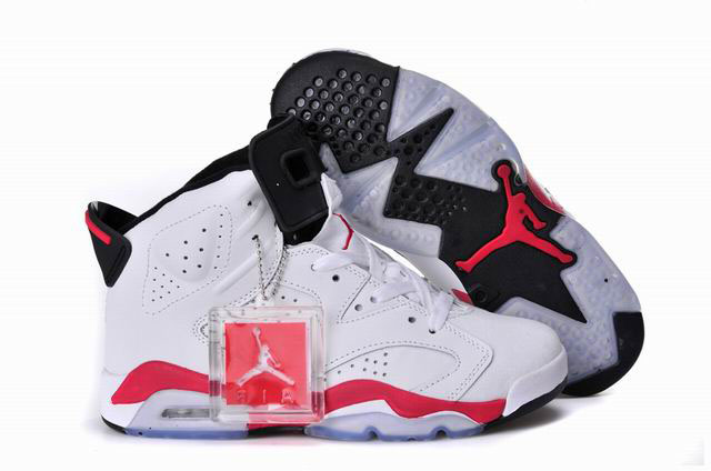 Women Air Jordan 6 White Infrared