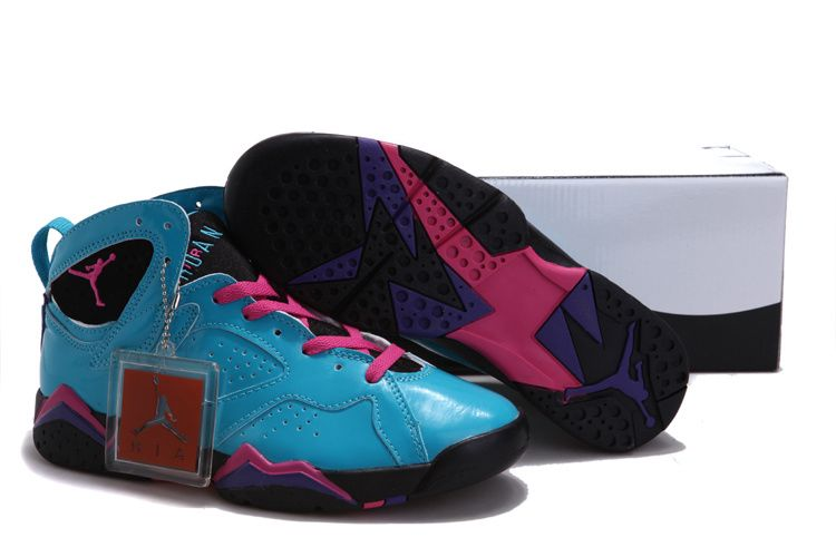 Women Air Jordan 7 VII Blue Pink